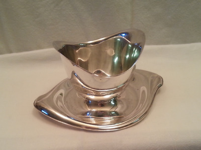 1847 Rogers Bros Flair International Silver Co Silverplate Gravy Boat