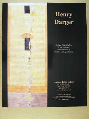 2006 Henry Darger battle children escaping artwork NYC gallery vintage print Ad