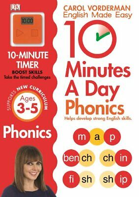 10 Minutes A Day Phonics Ages 3-5 Key Stage 1 (Made Easy ... by Vorderman, Carol