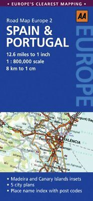 Road Map Spain & Portugal (AA Road Map Eur... by AA Publishing Sheet map, folded