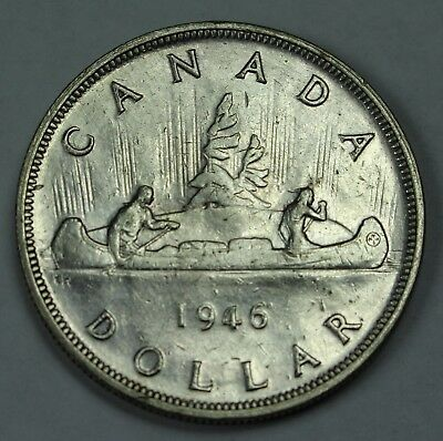 1946 Canadian 80% Silver Dollar Lot Canada $1 Old Coins NR Free Ship P3R