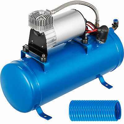 New 120PSI Air Compressor With 6 Liter Tank For Air Horn Train Truck Pick Up 12V