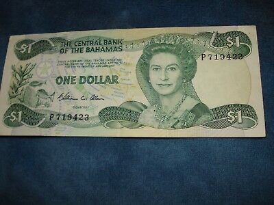 The Central Bank Of The Bahamas 1 Dollar - 1974