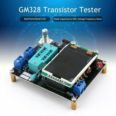 LCD GM328 Transistor Tester Diode Capacitance ESR Voltage Frequency Meter SU