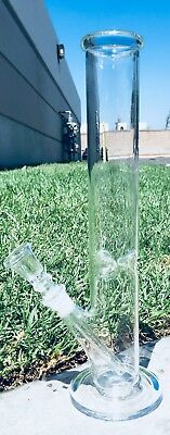 Hookah Water Pipe Glass Bong 10 inch Smoking Straight Shooter w/ ICE catcher