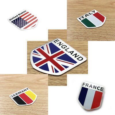 Car Door Fender Tailgate Metal Flag Shield Style Sticker Badge Fashion 5 x 5cm