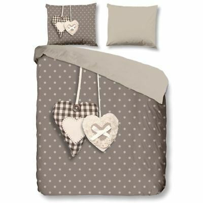 Good Morning Housse de couette Taie d'oreiller 5785-P Hearts Multi-Taille Taupe