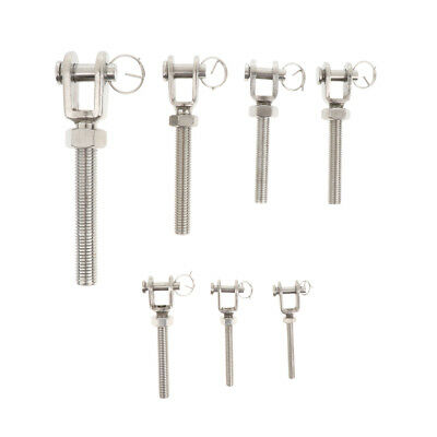M5-M10 Stainless Steel Turnbuckle Jaw Open Rigging Bolt with Nut Connector