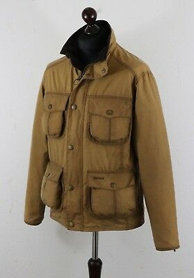 Mens BARBOUR E 315 NEW UTILITY size Medium Waxed cotton jacket Tan