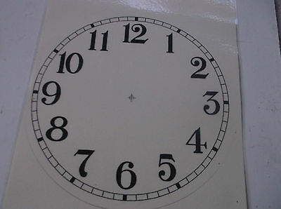 "Round Paper Laminated Clock Dial 6""DIAM  CREAM FACE"