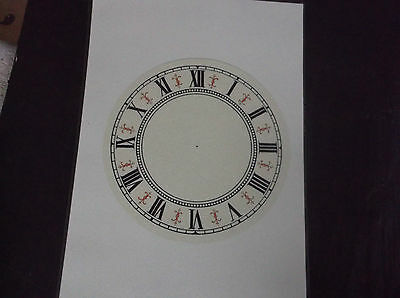"Paper vienna style Laminated Clock Dial-6 1/4"" diam white Face"