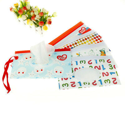 Clean Wipes Carrying Case Wet Wipes Bag Cosmetic Pouch Snap-strap Wipes