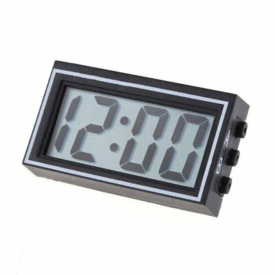 Mini Digital LCD Auto Car Truck Dashboard Date Time Calendar Clock Black G8G9P