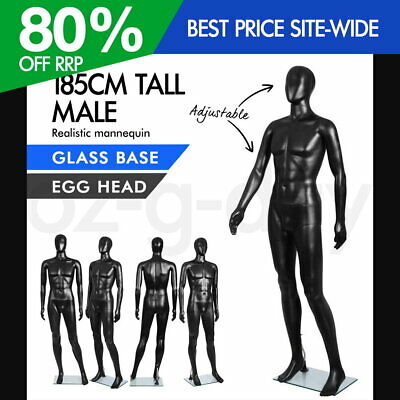 Full Body 185cm Male Mannequin Clothes Display Dressmaking Window Showcase