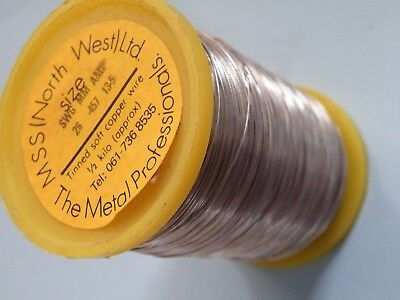 500g (1/2 Kilogram ) Reel of Tinned copper wire 26SWG 0.45mm 13A Fuse wire  611