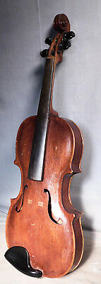 Antique Folk Art American 4/4 Violin STAINER STYLE 1915 OAD Signed As Is