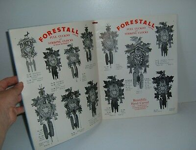 ** VINTAGE 1950s TRADE CATALOGUE CUCKOO CLOCKS + BAROMETERS WITH PRICES **