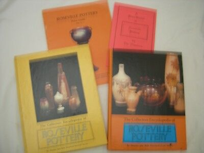 "ROSEVILLE POTTERY Books Guides Huxford 1st 2nd Series ""Roseville by the Numbers"""