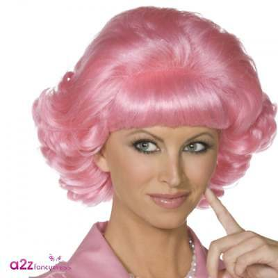 Ladies Pink Grease Frenchy Wig Adult Ladies 1950's Fancy Dress Accessory