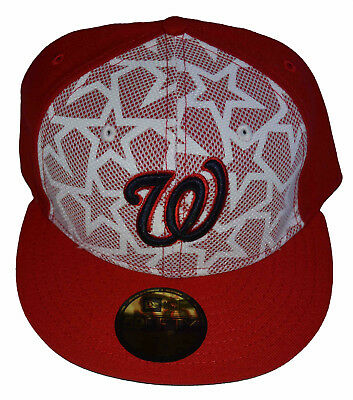 Washington Nationals New Era MLB Stars and Stripes 59FIFTY Fitted Cap 7 5 8  New ff8f2ab22a9