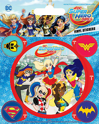 DC Comics - Super Hero Girls Stickerset Set 5 Sticker Aufkleber - ca. 10x12,5 cm