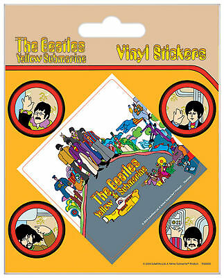 Beatles, The - Submarine - Stickerset Set 5 Sticker Aufkleber - ca. 10x12,5 cm