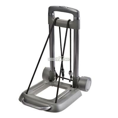 55kg Aluminum Folding Luggage Push Hand Truck Portable Cart Trolley with RR6