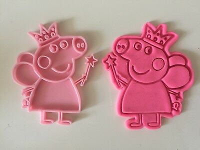Peppa Pig Fairy cookie cutter with stamp Fondant cutter Peppa Pig Birthday Party