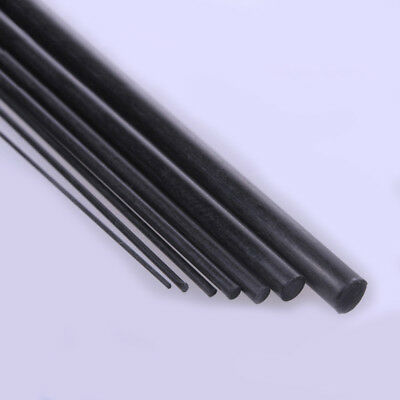Carbon Fiber Round Bar Rod 200 & 400mm Length 0.5mm 0.8mm 1mm 1.5mm 3mm 4mm Dia.
