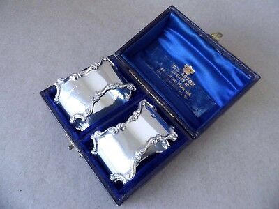 Excellent Beautiful Art Nouveau Sterling Silver Napkin Rings 1917, Not Engraved