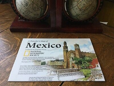"""Vintage Travelers Map of Mexico 30"""" x 20"""" National Geographic Society 1994"""