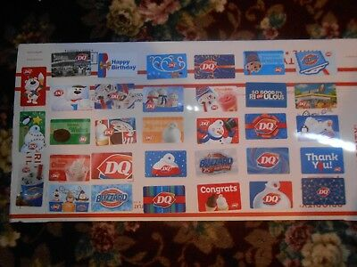 Dairy Queen Gift Card Collection Lot Of 33 Different Cards All New !!no Cash Val