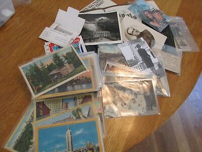 Vintage postcards, 100 plus, real photo, from 1907,plus other paper,lot