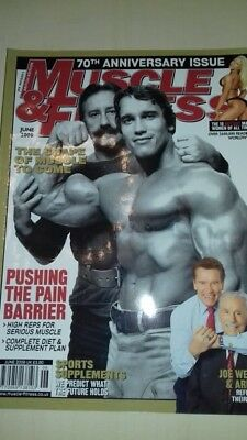 Muscle & Fitness Special 70Th Anniversary Magazine Joe Weider & Arnold June 2009