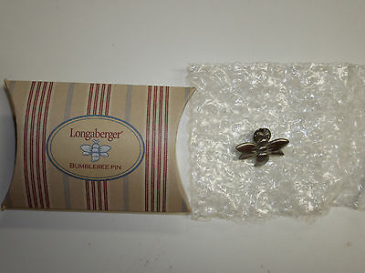 Longaberger Bumblebee Pin  NEW in Box  Made in the USA