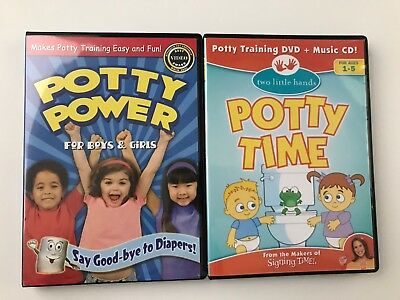 Potty Time (Two Little Hands) + Potty Power potty training video DVD's