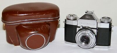 2x Zeiss Ikon Contaflex 35mm SLR Cameras Model I (861-24) + Cases Sold AS IS