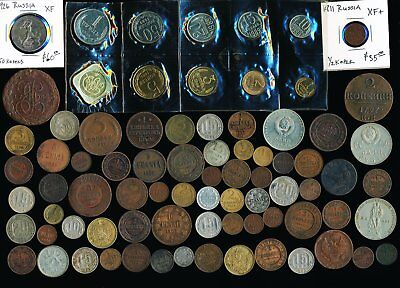 79  Old Russia Coins (1788 - 1989) Must See Images > No Reserve