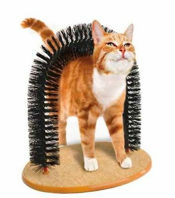 Cat Kitten Massaging Scratching Scratcher Pet Arch Self Grooming Soft Groomer