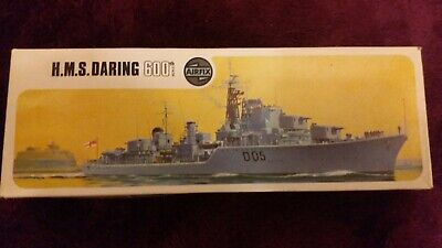 AIRFIX 1:600 HMS DARING Model Kit #F3S in TYPE 3C Red-Striped BOX COMPLETE