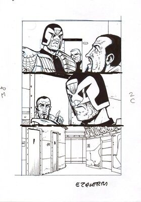 Carlos Ezquerra  Judge Dredd  illustration        2000AD