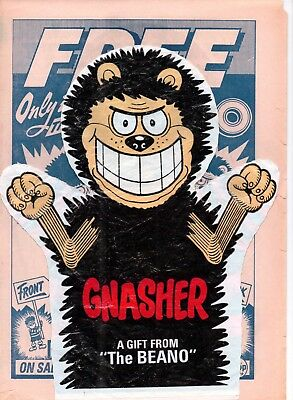 Dennis and Gnasher Glove Puppet Free Gift from The Beano Comic Plus 4 page flyer