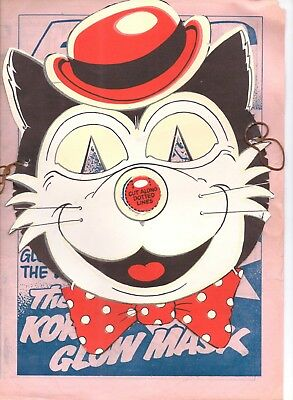 KORKY THE CAT GLOW IN THE DARK MASK With 4 page flyer - Free Gift From The Dandy
