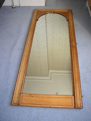 Full-length Framed Wall Mirror Antique / Vintage (Collect From Sevenoaks TN13)
