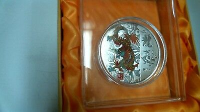 Beautiful 2012 China Year of the Dragon Colored Coin -80mm