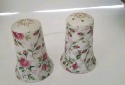 Lefton Vintage China Rose Chintz pattern Set of Salt and Pepper Shakers 665R
