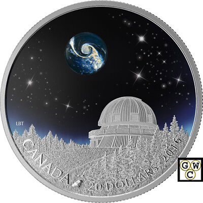 2016'The Universe(Borosilicate Glass)' Prf $20 Fine Silver 1oz .Coin (17394)OOAK