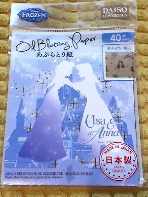 Disney Frozen Elsa Anna Face Oil Blotting Paper 40 Sheets Made In Japan Gift Uk