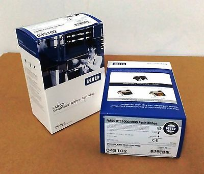 HID Fargo original Black monochrome ribbon cartridge P/N 45102 x 3roll