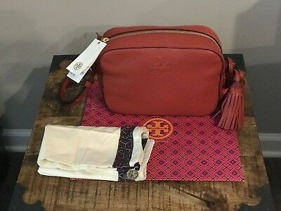 83f7e97a2c NWT TORY BURCH Thea Leather Crossbody handbag in Rust Red w/dust bag and box